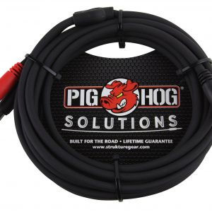 "Pig Hog 3 ft 1//4/"" TRS Stereo Male to Dual 1//4/"" Mono Male Insert Cable Audio NEW"